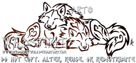 Love And Cuddles Wolf Tattoo by WildSpiritWolf