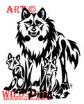 Protective Father Wolf Tattoo