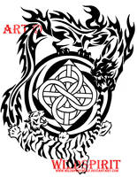 Tiger And Dragon Kenpo Tattoo by WildSpiritWolf