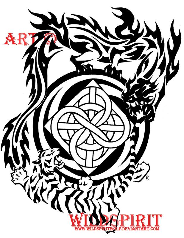 Tiger And Dragon Kenpo Tattoo by WildSpiritWolf on DeviantArt