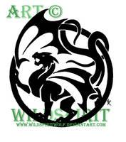 Dragon Logo Design by WildSpiritWolf
