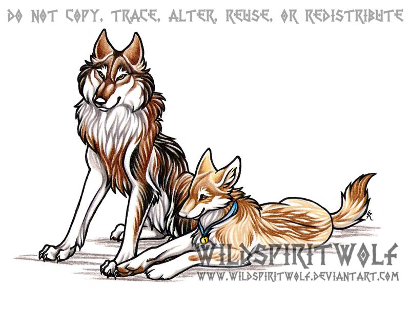 Crown War || Inscripciones Personajes ~ Razas Nacientes. Kafara_and_andurina_wolves_by_wildspiritwolf-d199paz