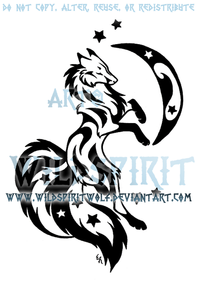 starry three tailed fox tattoo by wildspiritwolf on deviantart. Black Bedroom Furniture Sets. Home Design Ideas