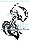Starry Three-tailed Fox Tattoo