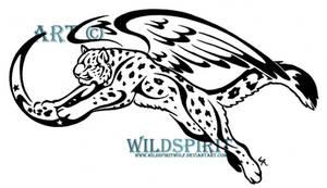 Winged Snow Leopard Tattoo by WildSpiritWolf