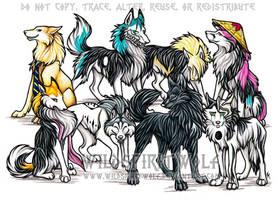 Bleach Wolf Commission 2 by WildSpiritWolf