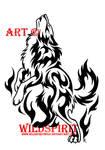 Spirit Flame Wolf Tattoo