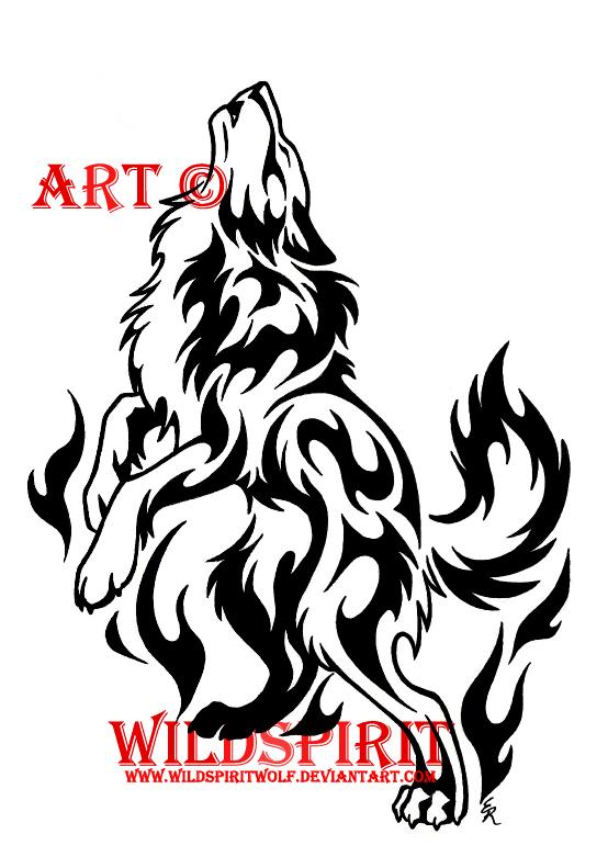 spirit flame wolf tattoo by wildspiritwolf on deviantart. Black Bedroom Furniture Sets. Home Design Ideas