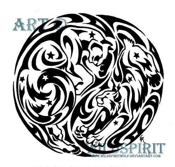 6ba1076f8248b Starry YinYang Cougar And Lynx by WildSpiritWolf on DeviantArt