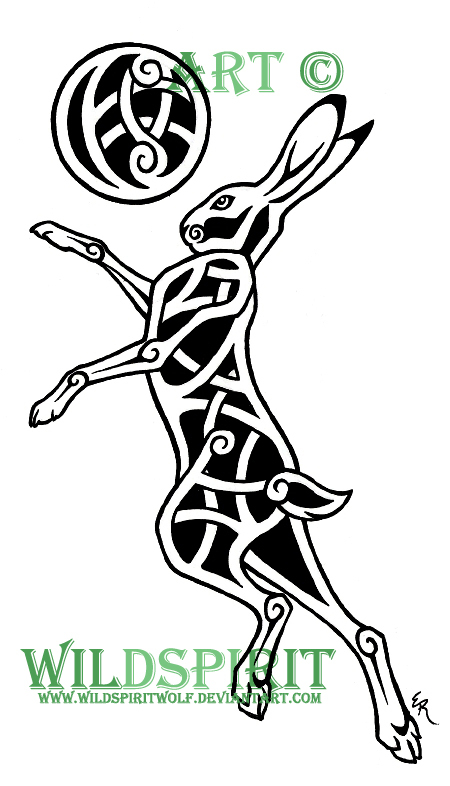 Celtic Moon And Hare Tattoo by WildSpiritWolf on DeviantArt