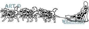 Celtic Dog Sled Team Tattoo by WildSpiritWolf