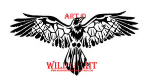 Molecular Crow Tattoo by WildSpiritWolf