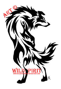 Tribal Border Collie Tattoo