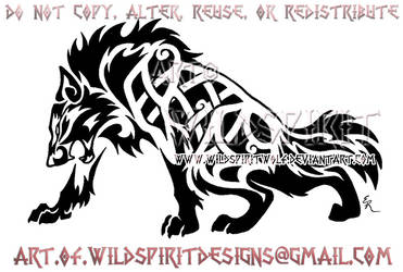 Fierce Celtic Wolf Tattoo