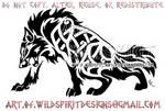 Fierce Celtic Wolf Tattoo