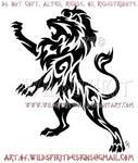 Rampant Lion Tribal Design