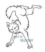Kanya Wolf Lineart by WildSpiritWolf