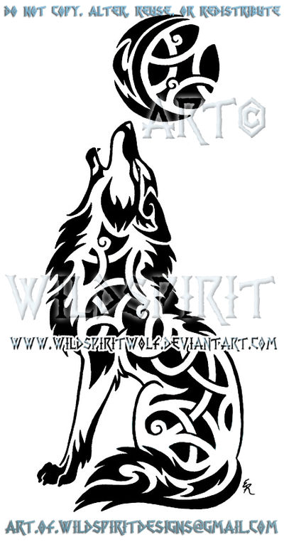 Celtic Tribal Howling Coyote by WildSpiritWolf on DeviantArt