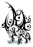 Ice Moon Wolf Tattoo by WildSpiritWolf