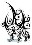 Ice Moon Wolf Tattoo