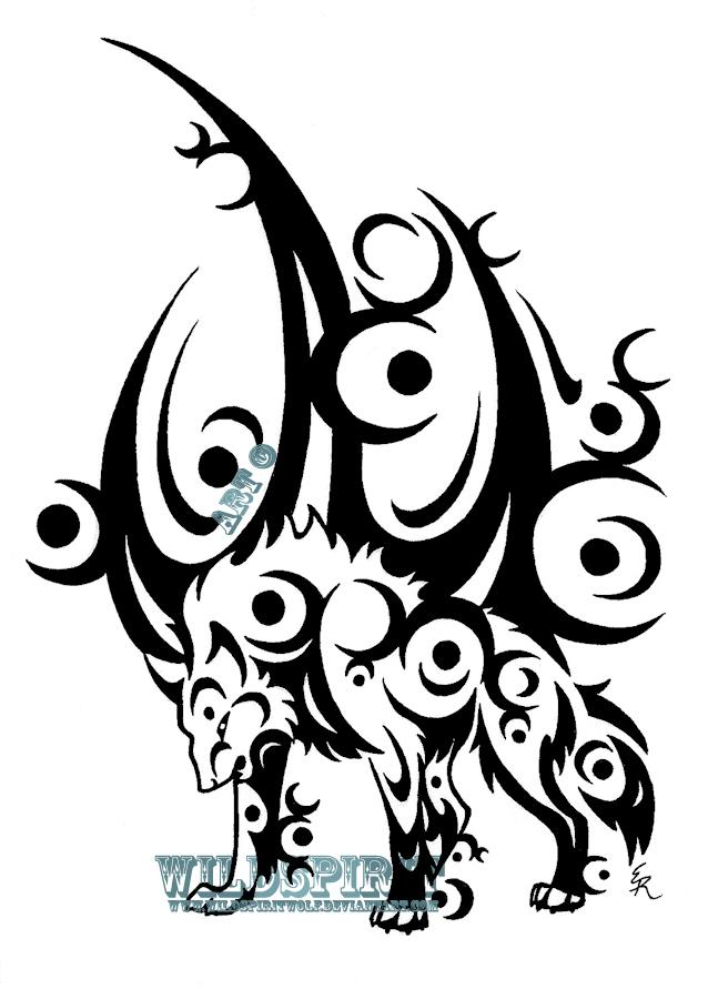 Ice Moon Wolf Tattoo By Wildspiritwolf On Deviantart