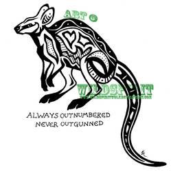 Aboriginal Wallaby Tattoo by WildSpiritWolf