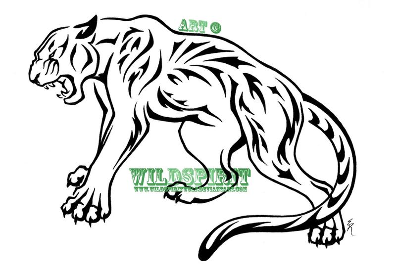 5158050ca Tribal Nature Panther Tattoo By Wildspiritwolf Deviantart – Fondos ...