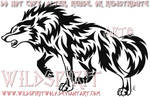 Aggressive Wolf Tribal Set