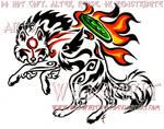 Color Tribal Okami Tattoo