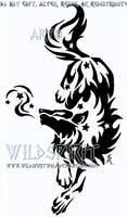 Star Mist Wolf Tattoo