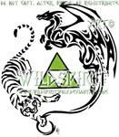 Tiger Dragon Triforce Tattoo
