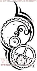 Clockwork Tattoo by WildSpiritWolf