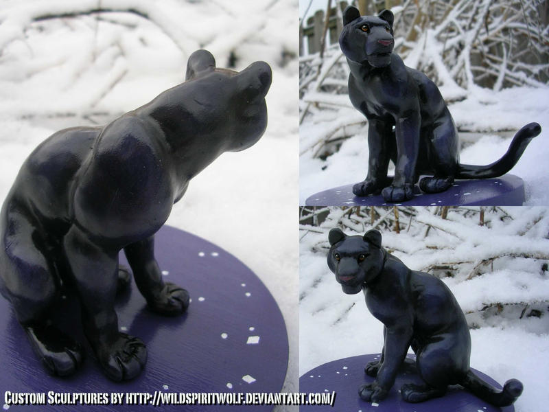 Panther Topper Sculpture by WildSpiritWolf