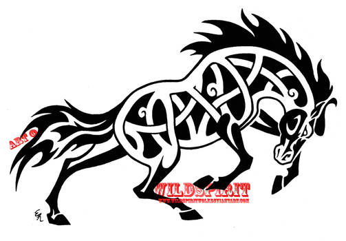 Fierce Celtic Horse Tattoo