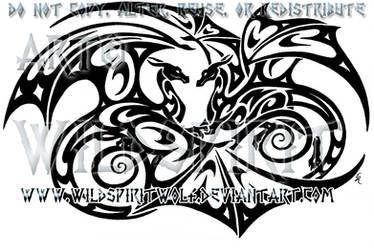 Infinity Dragon Lovers Tattoo by WildSpiritWolf