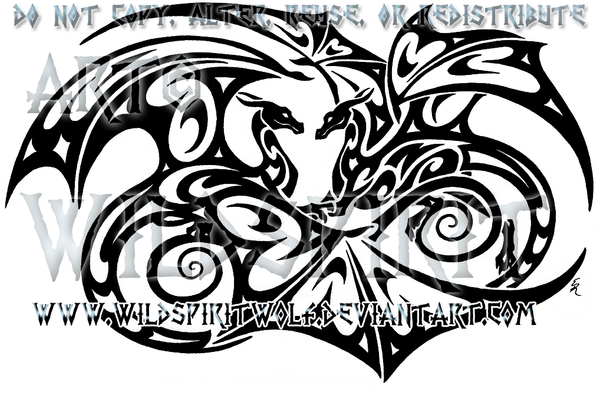 Infinity dragon lovers tattoo by wildspiritwolf on deviantart for Dragon and wolf tattoo