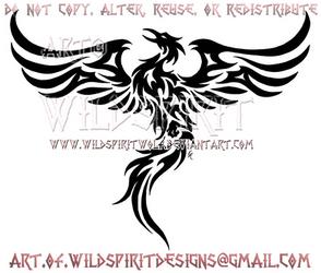 Rising Phoenix Tribal Design