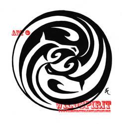 Yin Yang Equine Tattoo by WildSpiritWolf