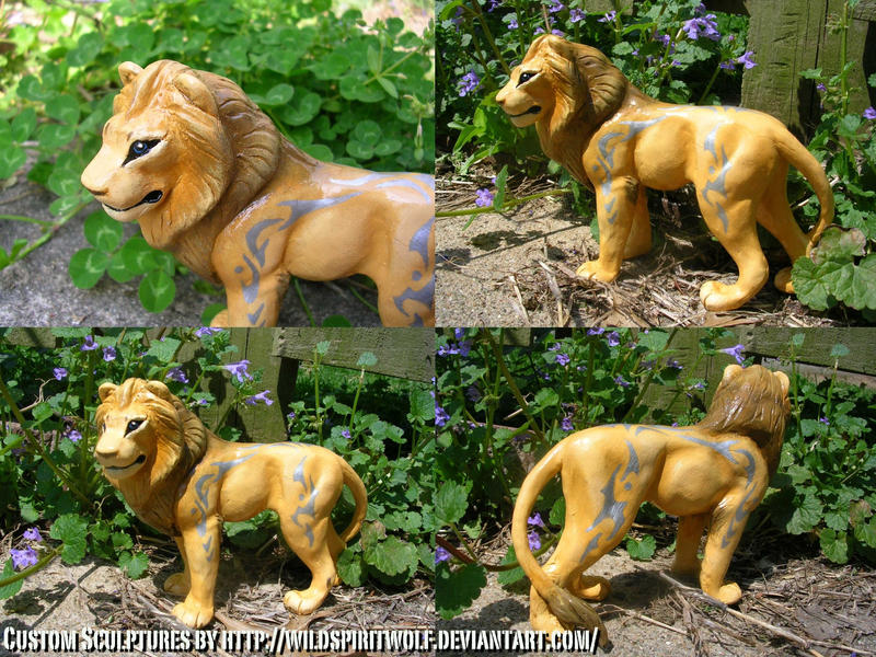 Kai Lion Sculpture by WildSpiritWolf