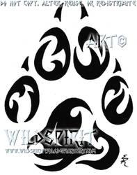Tribal Paw Memorial Tattoo by WildSpiritWolf