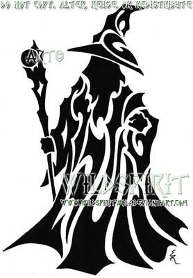 Tribal Wizard Tattoo