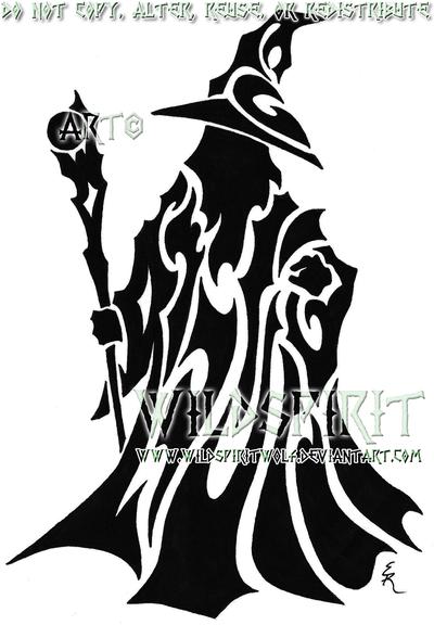Tribal Wizard Tattoo by WildSpiritWolf