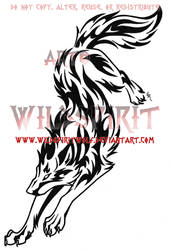 Rebellious Tribal Wolf Tattoo by WildSpiritWolf