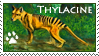 Thylacine Pawprint Stamp