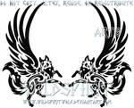 Winged Fox Pair Tattoo