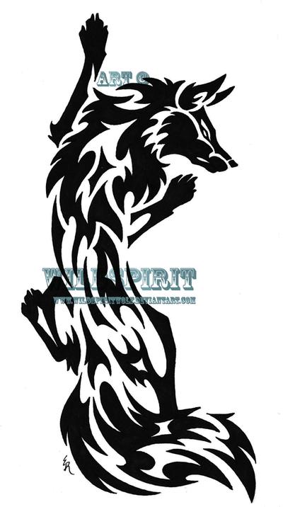 21977d27d Climbing Fox Tribal Tattoo by *WildSpiritWolf on deviantART