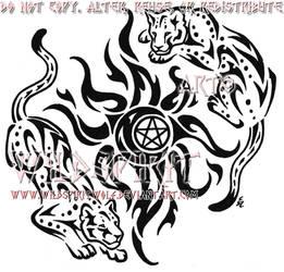 76c1113741ded Culpeo-Fox 1,880 291 Tribal Leopards And Sun Tattoo by WildSpiritWolf