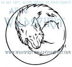 Wolf In Moon Lineart