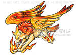Phoenix Wolf Color Tattoo