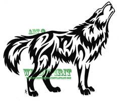 Joyful Howling Wolf Tattoo by WildSpiritWolf